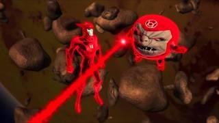 getlinkyoutube.com-Red Lanterns battle Green Lanterns in GL:TAS Beware My Power