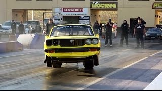 getlinkyoutube.com-RX3 LAUNCHES INTO THE WALL AT SYDNEY DRAGWAY 2.8.2014