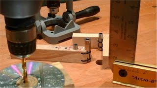 getlinkyoutube.com-Столярные Хитрости. Перпендикулярное Отверстие без Станка. DIY 90 degree Drilling Guide.