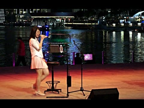 Hot Asian Woman Singing Funny Chinese Song