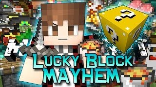 getlinkyoutube.com-Minecraft: NEW Lucky Block Mayhem! Modded Mini-Game w/Mitch & Friends!
