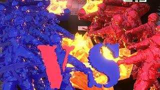 getlinkyoutube.com-Minecraft | RED VS BLUE ARMY SOLDIERS CHALLENGE!