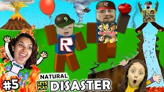 getlinkyoutube.com-Let's Play ROBLOX #5: SAVE FAMILY OR PLAY GAMES?  Natural Survival Disaster w/ FGTEEV Duddy & Chase