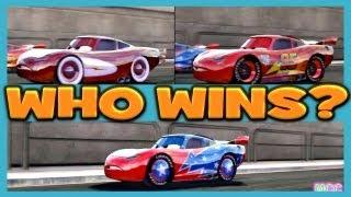 getlinkyoutube.com-Cars 2 The Video Game Lightning McQueen, Radiator Mcqueen, Daredevil Lightning Mcqueen Race
