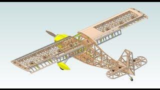 3D CAD Design of 44% Bellanca Super Decathlon R/C Scale Model