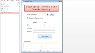 getlinkyoutube.com-How to INSERT UPDATE and DELETE Records From a Table (Executing SQL Statements in VBA) Part 1/5
