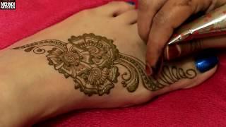 Floral Henna Mehndi Designs For Foots|2017 Easy Simple Beautiful Arabian Mehendi Step By Step