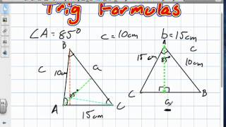 Trig ratios and Laws (Grade 11 University Review 6:19:12).mov