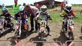 getlinkyoutube.com-Motocross-Rennen  Klasse 1 - 50ccm - MSC-Eichenried Kindercross 2013