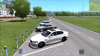 getlinkyoutube.com-City Car Driving 1.4.1 BMW M5 Gameplay With Logitech G27! (60 FPS)