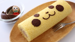 getlinkyoutube.com-Pikachu Surprise Egg Chocoalte Swiss Roll Cake Recipe