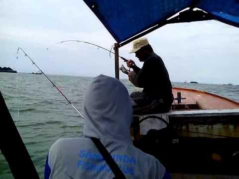 Kapten Mr. Taqim Mancing Kakap Merah Di Rumpon Sekitar Kapal Bongkar Muat Batubara - Muara Badak