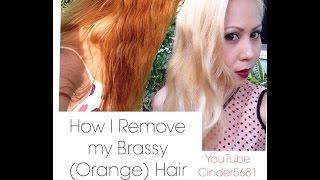 getlinkyoutube.com-How I Remove The Brazzines (orange) Of My Hair