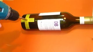 getlinkyoutube.com-How to drill a hole in a Wine Bottle