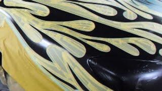 getlinkyoutube.com-パールホワイト&キャンディレッドでカスタムペイント・トライバル塗装 How to custom paint Tribal Frames