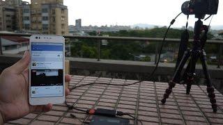 getlinkyoutube.com-use Facebook Live on Android to livestream (broadcast) DV / Camcorder  DSLR