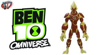 getlinkyoutube.com-BEN 10 OMNIVERSE Heatblast Alien Action Figure Toy Review Family Video