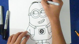 getlinkyoutube.com-Cómo dibujar un Minion
