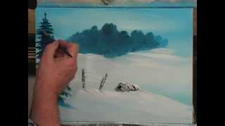getlinkyoutube.com-Art Students:  This Painting Lesson Shows How To Teach A Child To Paint An Acrylic Snow Scene.