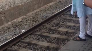VJ vidEoz -Live train accident -one died on the spot. For more videos subscribe our channel.