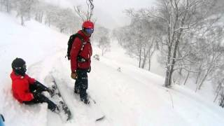 Snowboarding In Rusutsu, Japan Feb 2016