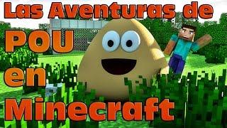 getlinkyoutube.com-Las aventuras de Pou en Minecraft: Jugando al futbol - Pou Adventures in Minecraft