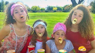 getlinkyoutube.com-The Pringles Challenge!  (Haschak Sisters)