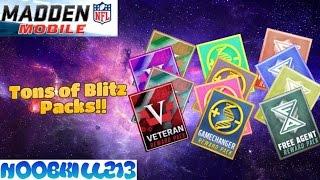 getlinkyoutube.com-Madden Mobile 16 Tons of Blitz Packs!!