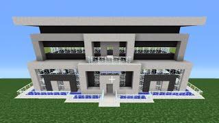 Minecraft Tutorial: How To Make A Quartz House - 10