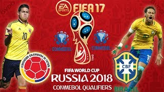 FIFA 17 | Colombia vs Brazil | FIFA World Cup CONMEBOL Qualifiers 2018 | PS4 Full Gameplay