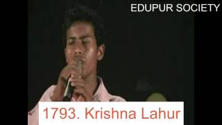 Singing by Krishna Lahur