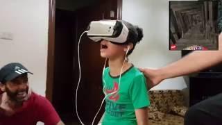 Funniest Reaction Ever  - أجمل ردة فعل في العالم لطفلة تشاهد العالم الافتراضي لأول مرة