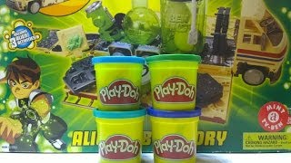 getlinkyoutube.com-Play-Doh Ben 10! 5 clay plates with 10 alien molds Ben10 ALIEN LABORATORY
