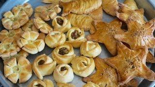 getlinkyoutube.com-فطائر ومعجنات بأشكال متعدده اكثر من عشرة اشكال Shaping Savory Pastries 10 Diffrent Shapes