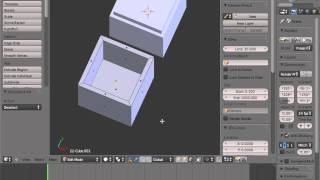 getlinkyoutube.com-Blender for 3D Printing Hollow box with a hinge)  1 of 1