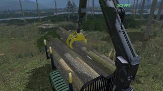 getlinkyoutube.com-FS 15 Test New FS17 Trees (Harvesting Logging)