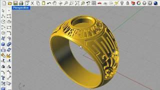 getlinkyoutube.com-3D Graduation Ring Part 1, Rhino 4.0