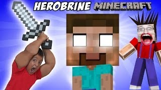 getlinkyoutube.com-Minecraft: Herobrine Screams!!  a Dad & Son Adventure (Mikes Spawner)