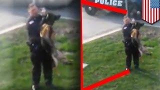 getlinkyoutube.com-K-9 dog abuse: Hammond, Indiana police officer on leave after video goes viral