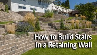 getlinkyoutube.com-How to Build Stairs in a Retaining Wall