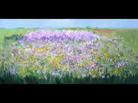 Cuadros de flores en óleo y acuarela