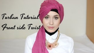 getlinkyoutube.com-Turban Tutorial | Front Side Twist @NABIILABEE
