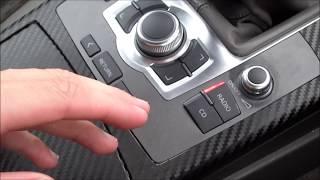getlinkyoutube.com-Audi a6 Folieren MMI Bedienteil mit Carbon Folie