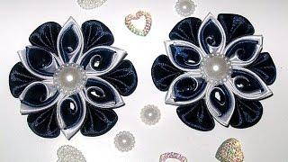 DIY Нарядные и красивые заколки своими руками к 1 сентября и для самых маленьких ,в стиле канзаши