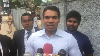 MP Namal Rajapaksa at Bribery Commission