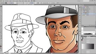 getlinkyoutube.com-Drawing and Coloring Tutorial for Adobe Illustrator