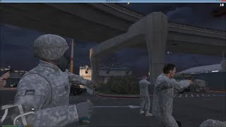 getlinkyoutube.com-GTA 5 PC RIOT & BODY GUARD MOD | Army Trying To Save The Police Station But Tear Gas Isnt Working