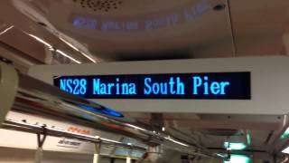 getlinkyoutube.com-[HD](SMRT) Train ride from Raffles Place to Marina South Pier (Marina South Pier Bound)[New Station]