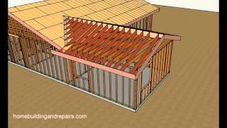 getlinkyoutube.com-How To Attach Home Addition Roof Framing To Existing Sloping Roof