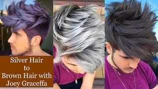 getlinkyoutube.com-Silver Hair to Brown Hair with Joey Graceffa